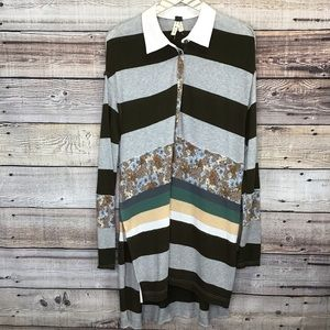 We The Free Eloise Tunic Small Multicolor Striped
